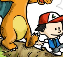 calvin & charizard.. Sticker