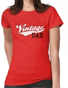 Vintage DAD 2C Design Black/White Womens Fitted T-Shirt