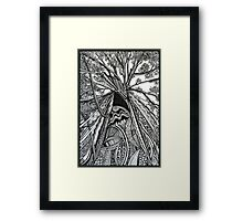 Regal A Tree Ink Drawing Framed Print