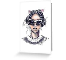 Cat's Meow Greeting Card