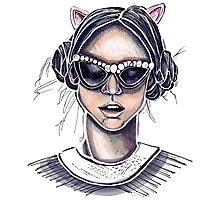 Cat's Meow Photographic Print