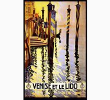 Venise et le Lido Vintage Travel Poster Unisex T-Shirt