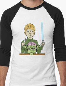 Luke Eats Yoda's Brain Men's Baseball ¾ T-Shirt