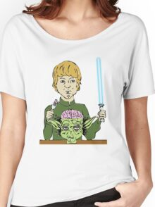 Luke Eats Yoda's Brain Women's Relaxed Fit T-Shirt