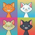Pop Cats by Monstruonauta