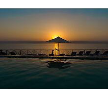 Sun setting over Israel Photographic Print