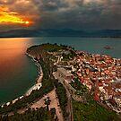 Sunset at Nafplio by Hercules Milas
