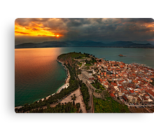 Sunset at Nafplio Canvas Print