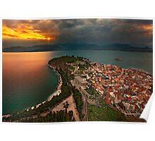 Sunset at Nafplio Poster