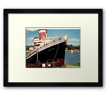 Sayings. 'SS United States Ship in Bembridge Harbour' Framed Print