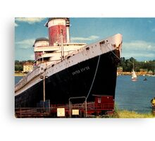 Sayings. 'SS United States Ship in Bembridge Harbour' Canvas Print