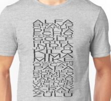 Alfa, Bravo, Charlie Unisex T-Shirt