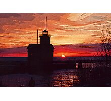 Big Red sunset during mild winter Photographic Print