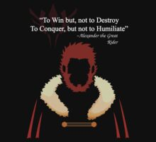 Iskandar Quotes White Print by Yakei