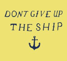 Don't Give Up the Ship- Navy Kids Clothes