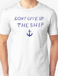 Don't Give Up the Ship- Navy T-Shirt