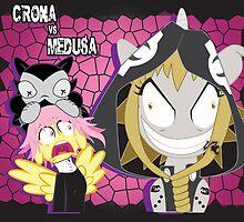 Crona vs Medusa by Michi Donaho