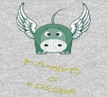 A Hippo Anything is Possible T-shirt One Piece - Long Sleeve