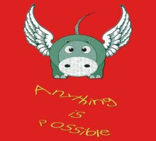 A Hippo Anything is Possible T-shirt One Piece - Short Sleeve