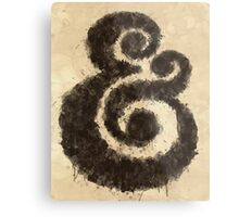 Ink Ampersand Metal Print