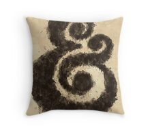 Ink Ampersand Throw Pillow