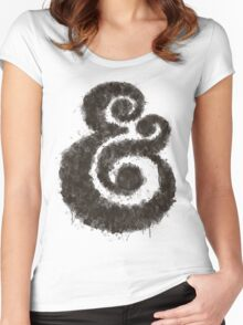 Ink Ampersand Women's Fitted Scoop T-Shirt