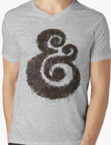 Ink Ampersand Mens V-Neck T-Shirt