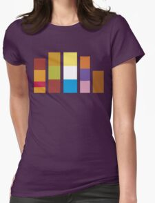 Minimalistic Scooby Doo Gang Womens Fitted T-Shirt