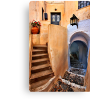Lack of space in the heart of Pyrgos Canvas Print