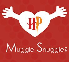 Muggle Snuggle Harry Potter Card by leishmania