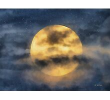 Veiled Harvest Moon Photographic Print