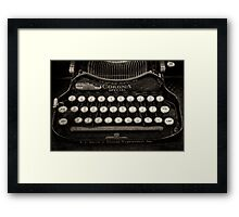 Vintage Typewriter Keyboard Framed Print