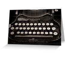 Vintage Typewriter Keyboard Greeting Card