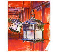 Japanese Lanterns Poster