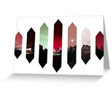 Red Nature Crystals Greeting Card