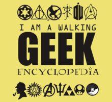 I'm a walking GEEK Encyclopedia Kids Clothes