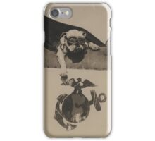 Vintage Black and White Military Bulldog Aviation iPhone Case/Skin