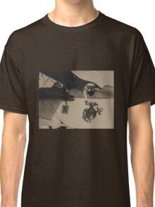 Vintage Black and White Military Bulldog Aviation Classic T-Shirt