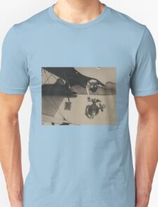 Vintage Black and White Military Bulldog Aviation T-Shirt