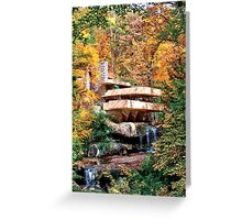 Frank Lloyd Wright Fallingwater Greeting Card