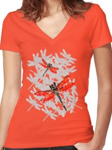 Dragonfly 2 Women's Fitted V-Neck T-Shirt