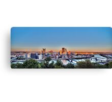 Panorama of Downtown Pittsburg Canvas Print