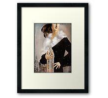 Over Manhattan Framed Print