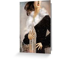 Over Manhattan Greeting Card