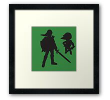 The Legend of Zelda - The Old and the Toon - Link Framed Print