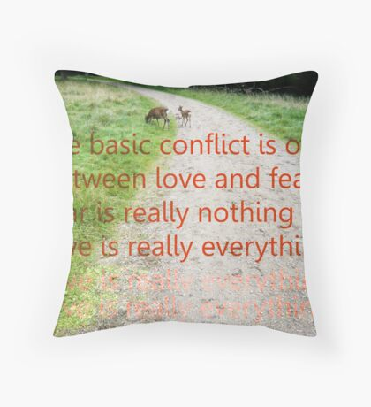 ACIM #6 Fear is Nothing Throw Pillow