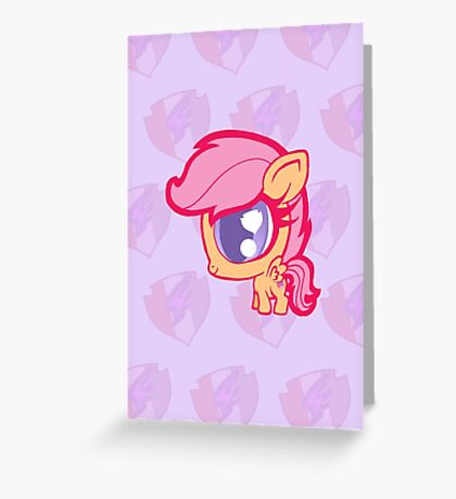 Weeny My Little Pony- Scootaloo Greeting Card