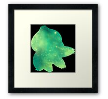 Pokemon Bulbasaur Galaxy Framed Print