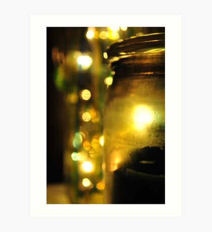 Candle Jar Art Print