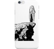 Standing on the cliff face iPhone Case/Skin